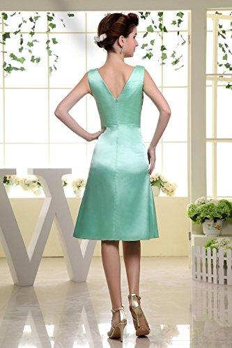 Bridal_Mall -  Vestito  - linea ad a - Senza maniche  - Donna Hellgruen 44