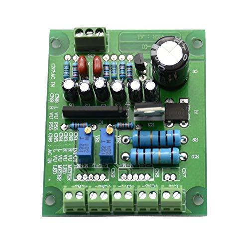 Dual Stereo Vu Meter Driver Board Amplifier Db Audio Level Ac 12V Input Backlit
