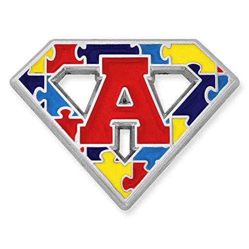 (PinMart Autism Awareness Super Power A Puzzle Enamel Lapel Pin)