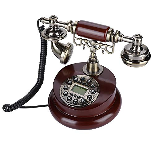 Tangxi Retro/Old Fashion Telephone/Vintage Phone,Replica Antique Phone for Home/Office,Big Button Landline,Wired Phone,Dual System FSK/DTMF,Corded Telepone, with Pause Function/Redial/Caller ID from Tangxi