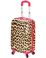 Amazon.com | Girls Hot Pink Cat Suitcase Carry On Pretty