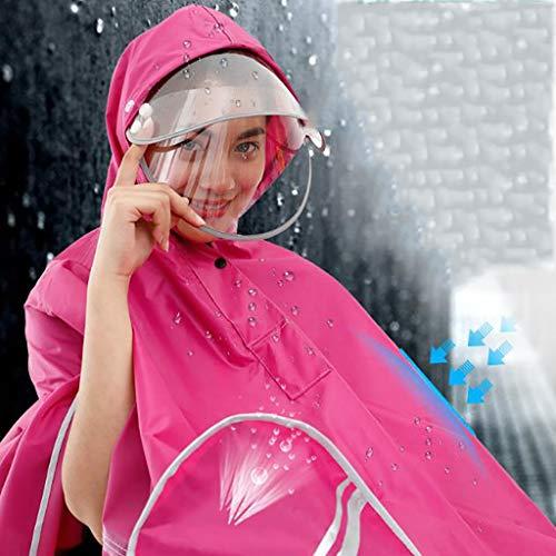 Moto colore Donne L'impermeabile D E Monocolore Ponticelli Hyuyi Adulti Coprimoto Uomini A Poncho Per Aumentare AxndgdB