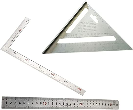 7/'/' Aluminium Alloy Right Angle Triangle Ruler for Industrial Measurement