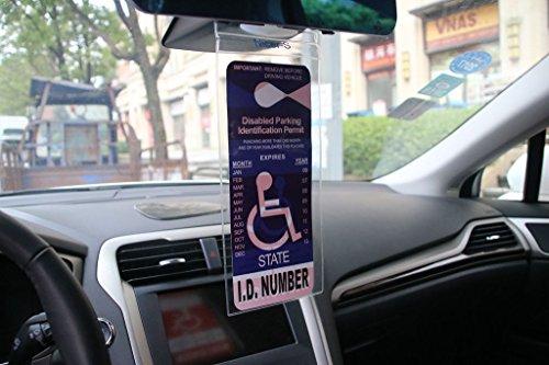 Handicapped Parking Placard Holder (4 Pcs)- Disabled ...