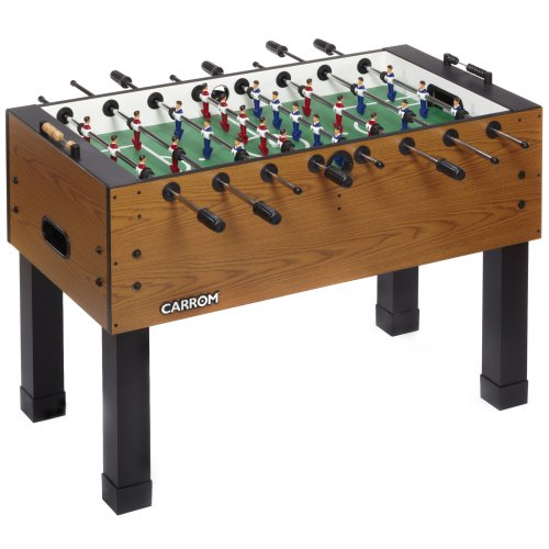Carrom Preassembled Foosball Table, Blurry Oak