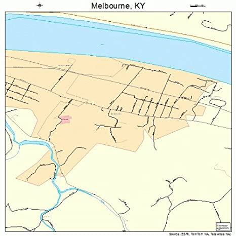 Amazon.com: Large Street & Road Map of Melbourne, Kentucky ...