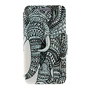 ZL Kinston Right Side Of the Elephant Pattern PU Leather Full Body Case with Stand for iPhone 4/4S
