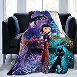 GIPHOJO Coraline Ultra-Soft Micro Fleece Blanket