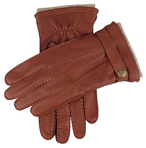 - Dents Mens Gloucester Cashmere Lined Deerskin Leather Gloves - Havana Brown - Large