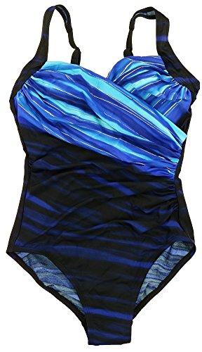 Miraclesuit Womens One Piece Swimsuit Sanibel Blue - Outlet Sanibel