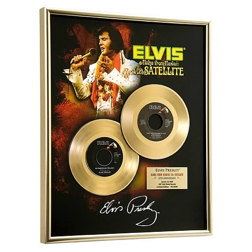 Elvis Presley Aloha From Hawaii Framed Gold Record Record Framed