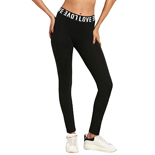 Amazon.com: POQOQ Pants Women High Waist Sports Gym Yoga ...