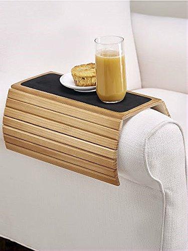 """16.5"""" Wood Flexi Sofa/Arm Chair Table - Honey"""