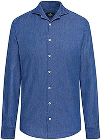 Hackett London Plain Denim Camisa para Hombre: Amazon.es: Ropa y accesorios