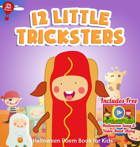 12 Little Tricksters [Halloween Poems Book for Kids]