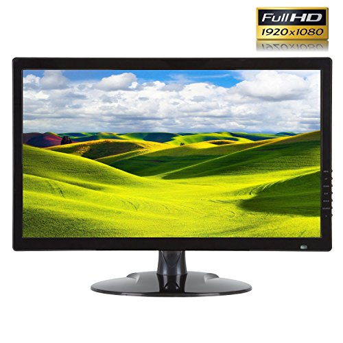 """1stPV True Full HD 1920x1080 21.5"""" CCTV LCD LED Professional Monitor for Security Surveillance System HDMI VGA BNC Inputs and 1xBNC Output Great for Home Office DVR Camera Audio Video 16:9 Display ()"""