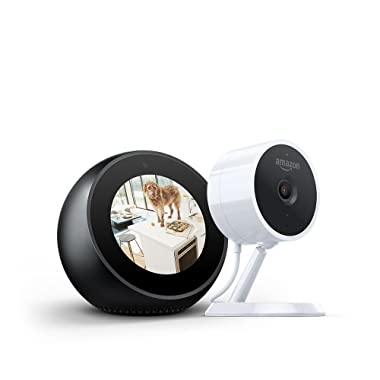 Echo Spot - Black + Amazon Cloud Cam Security Camera Bundle