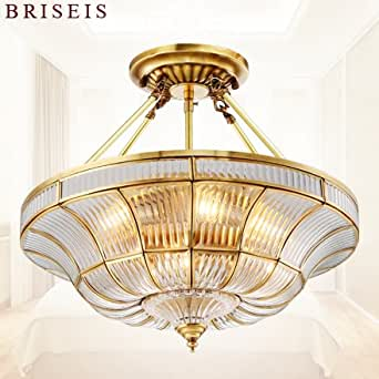Yposion Led Lamps Living Room Continental Copper Ceiling Light Bedroom Hall Aisle Hyun Turn Off