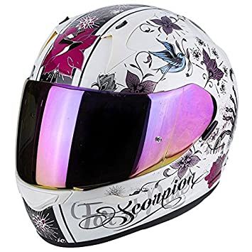 Scorpion Exo 390 Chica Pearl - Casco de Moto, Color Blanco