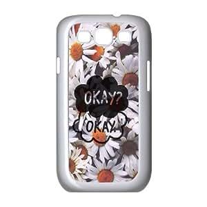 T-TGL(RQ) Samsung Galaxy S3 I9300 Durable Phone Case Okay Okay with Hard Shell Protection