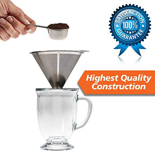 Pour-Over-Coffee-Filter-Stainless-Steel-Reusable-Coffee-Maker-and-Paperless-Coffee-Dripper