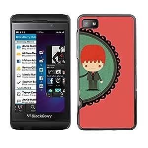 TopCaseStore / la caja del caucho duro de la cubierta de protección de la piel - Boy Ginger Redhead Teal Peach - Blackberry Z10