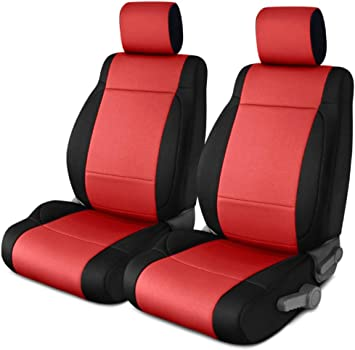 Neoprene, Black//Red Coverking Custom Fit Seat Cover for Jeep Wrangler YJ 2-Door