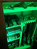 Lifetime WARRANTY - Gun Safe / Locker / Cabinet LED Lighting KIT - LED Color Select Set - with Remote - #1 BEST Christmas Gift for HUNTERS - Multi Color w/ WHITE also