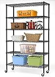 """82""""x48""""x18"""" Commercial 6 Tier Shelf Adjustable Steel Wire Metal Shelving Rack 76"""