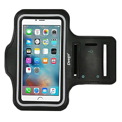 iPhone 6 Plus , iPhone 6S Plus Armband, Nancy's shop Premium Exercise Sports Easy Fitting Slim Scratch-Resistant Running Walking Water Resistant+ Key Holder Slot For iphone 6 Plus 5.5 Inch
