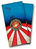 U.S. Marine Corps CORNHOLE WRAP SET Vinyl Board DECAL Baggo Bag Toss Boards MADE IN the USA