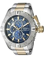 Armitron Mens 20/5199NVTT Multi-Function Dial Two-Tone Bracelet Watch