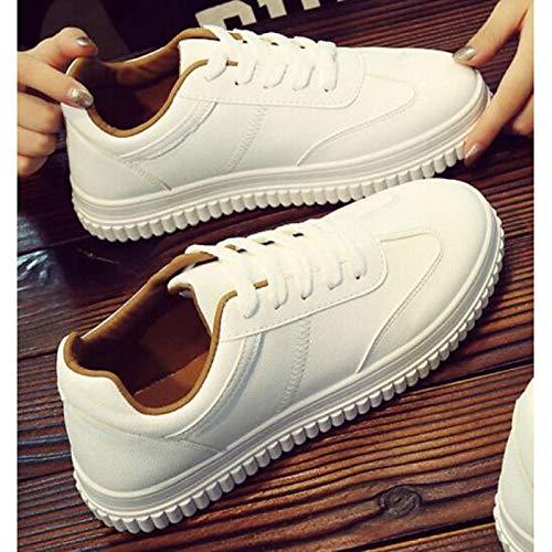 Scarpe Autunno Bianco Bianco poliuretano Sneakers Primavera da Giallo PU White donna piatto ZHZNVX Comfort Tacco dwx87qdf