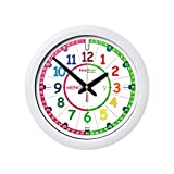 EasyRead Time Teacher Spanish Children's Wall Clock: with simple 3-step teaching system. 12 inch dia, learn to tell the time in Spanish, ages 5-12