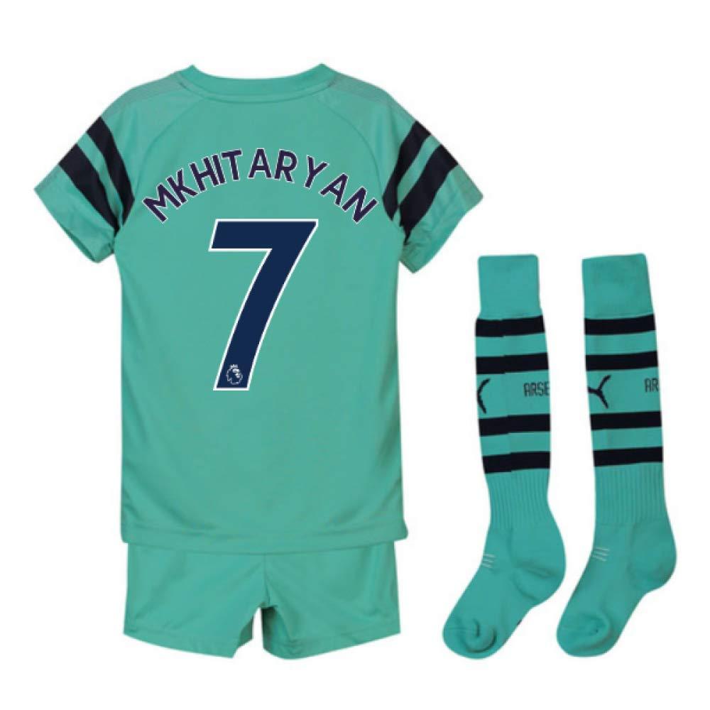 UKSoccershop 2018-2019 Arsenal Third Little Boys Mini Kit (Henrikh Mkhitaryan 7)