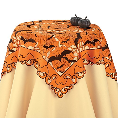 Embroidered Halloween Bats Table Linens Square, Square