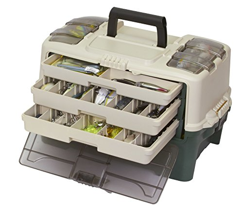 PLANO Tackle Systems Hybrid Hip 3 Tray Box, White/Green