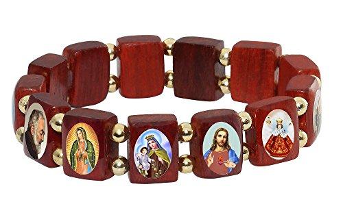 Elasticated Wooden Catholic Bracelet Assorted product image