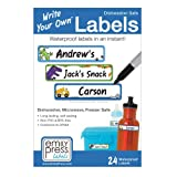 Emily Press Labels - Write Your Own Waterproof Labels for Kids for Back to School, Preschool and Daycare - Outside Play design. BPA-Free, Non-PVC.