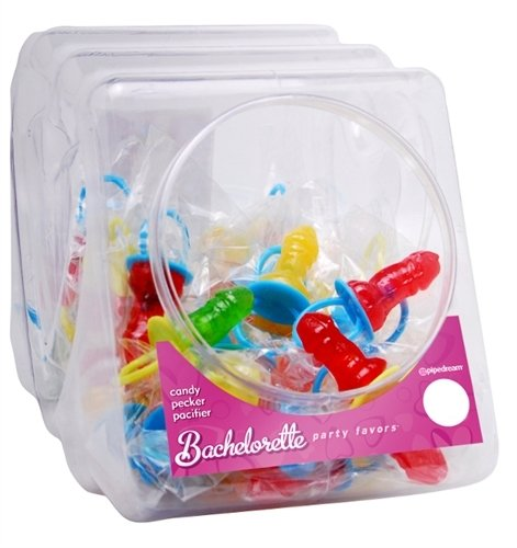 Bachelorette Party Favors Candy Pecker Pacifier - 48 Pieces Display by Pipedream Products