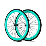 6KU 700C Deep V Alloy Fixie Wheelset