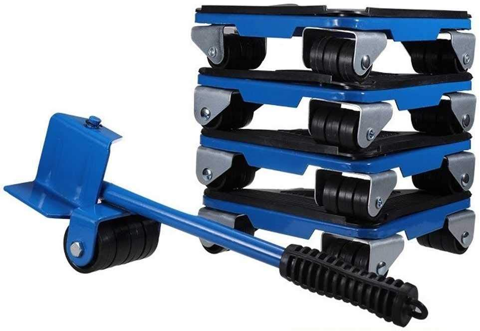Furniture Movement Tools, Heavy-Duty Furniture Lifters, Furniture Roller Movement System, Can Rotate 360 Degrees, Four Maximum Load 500kg/1100lbs
