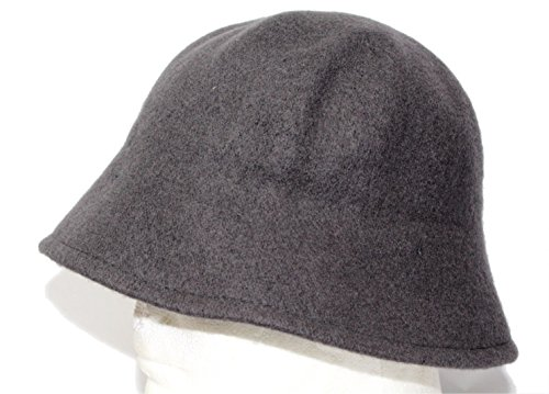 Wool lahinch polo bucket fisherman bell hat cap (Charcoal) (Wool Hat Drill)