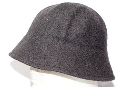 Wool lahinch polo bucket fisherman bell hat cap (Charcoal) (Hat Drill Wool)