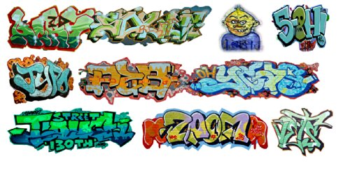 (N Scale Custom Graffiti Decals #20 - Great for Weathering Box Cars, Hoppers, Gondolas and More!)