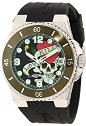 Ed Hardy Men's FU-LK Fusion Green Watch