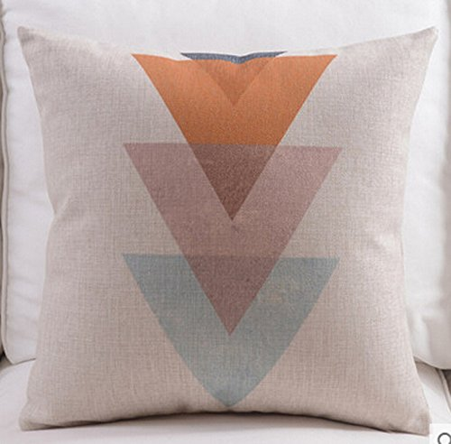 Bamboo Decorative Pillow (Feather Arrow Magic squares Cotton Linen Throw Pillow Case Cushion Cover Home Sofa Decorative 18 X 18 Inch (2))