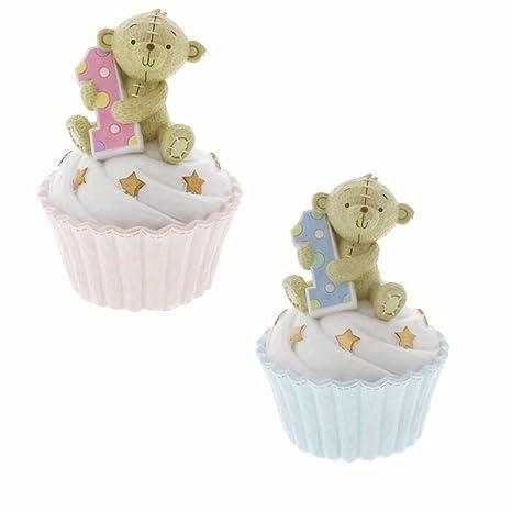Button Corner 1er Cumpleaños Teddy en Cup Cake - Hucha rosa ...