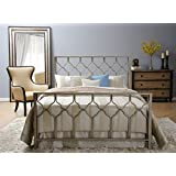 In Style Furnishings Classic Geometric Honeycomb Bed Set in Brushed Gold/Bronze in Twin Size (Includes Tools For Assembly)