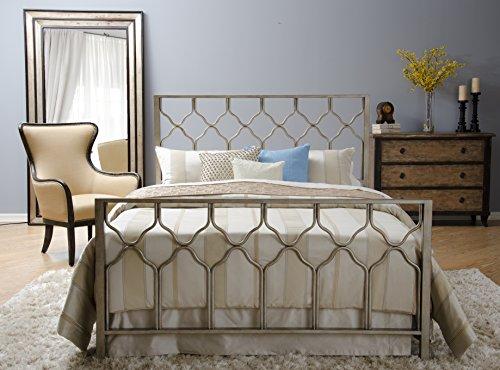 Honeycomb Bed - Brushed Gold - Geometric Headboard, Footboard, Side Rails Bed Set - - Gold Geometric Frame